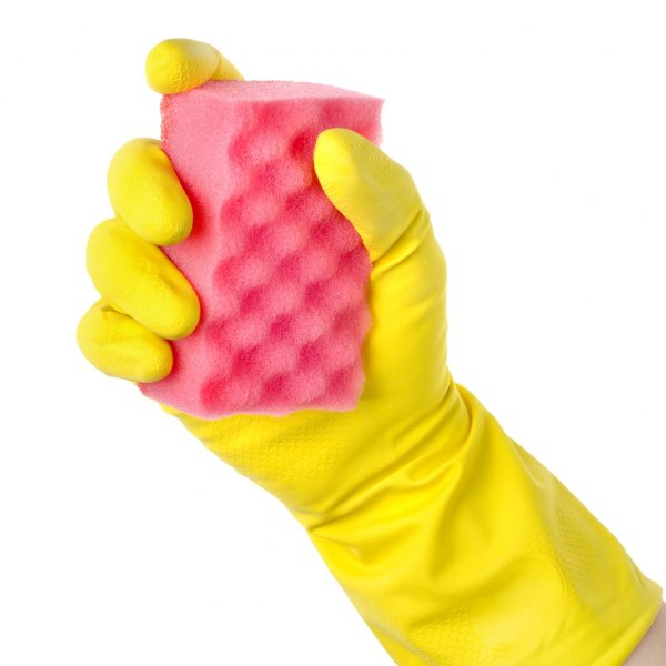 Yellow cleaning glove